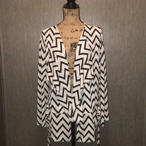Pink Martini Chevron Cardigan Worn 2 Ways Size S